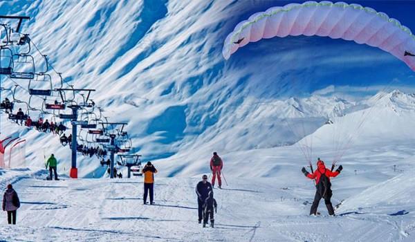 جبال القوقاز في الشتاء